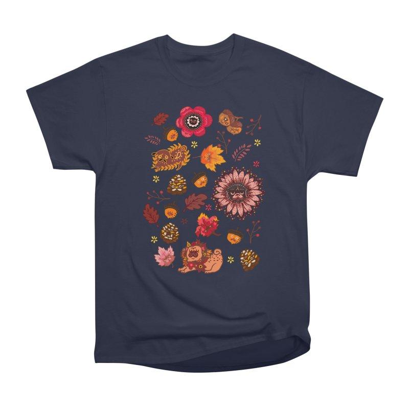 FALL PUG MEDALLION Men's Classic T-Shirt by huebucket's Artist Shop