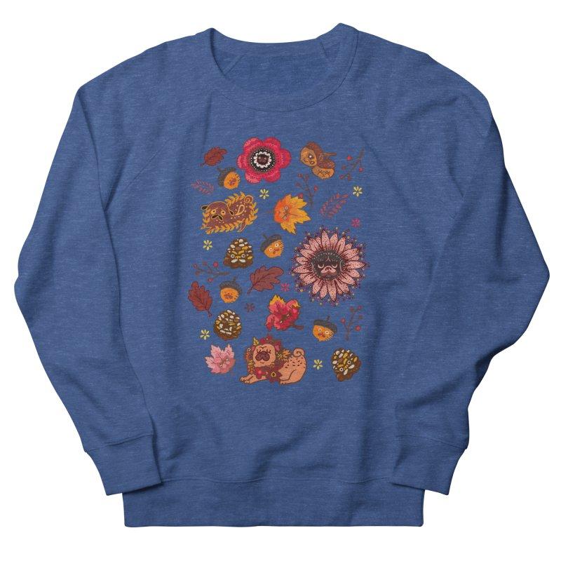 FALL PUG MEDALLION Women's Sweatshirt by huebucket's Artist Shop