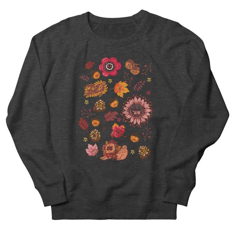 FALL PUG MEDALLION Men's Sweatshirt by huebucket's Artist Shop