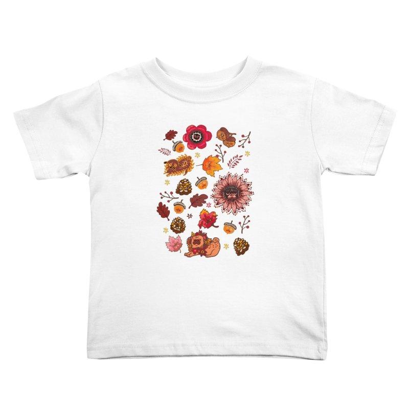 FALL PUG MEDALLION Kids Toddler T-Shirt by huebucket's Artist Shop