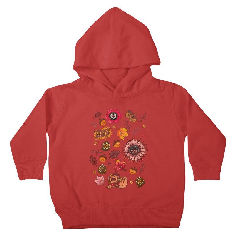 FALL PUG MEDALLION Kids Toddler Pullover Hoody by huebucket's Artist Shop