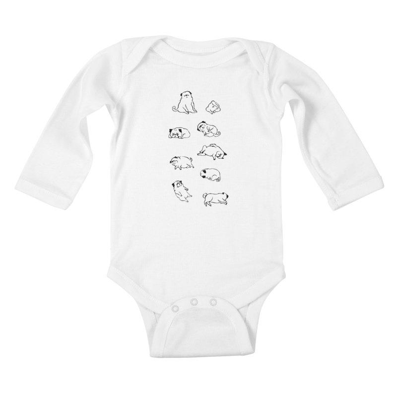 MORE SLEEP Kids Baby Longsleeve Bodysuit by huebucket's Artist Shop