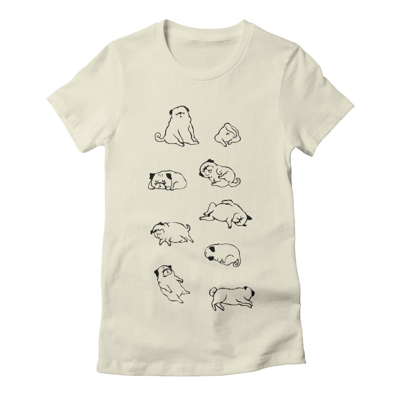 MORE SLEEP Women's Fitted T-Shirt by huebucket's Artist Shop