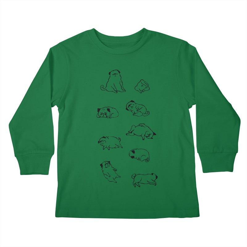 MORE SLEEP Kids Longsleeve T-Shirt by huebucket's Artist Shop