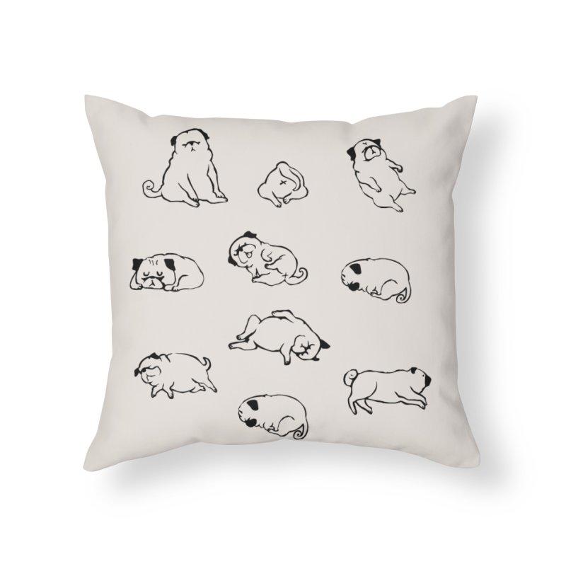 MORE SLEEP Home Throw Pillow by huebucket's Artist Shop