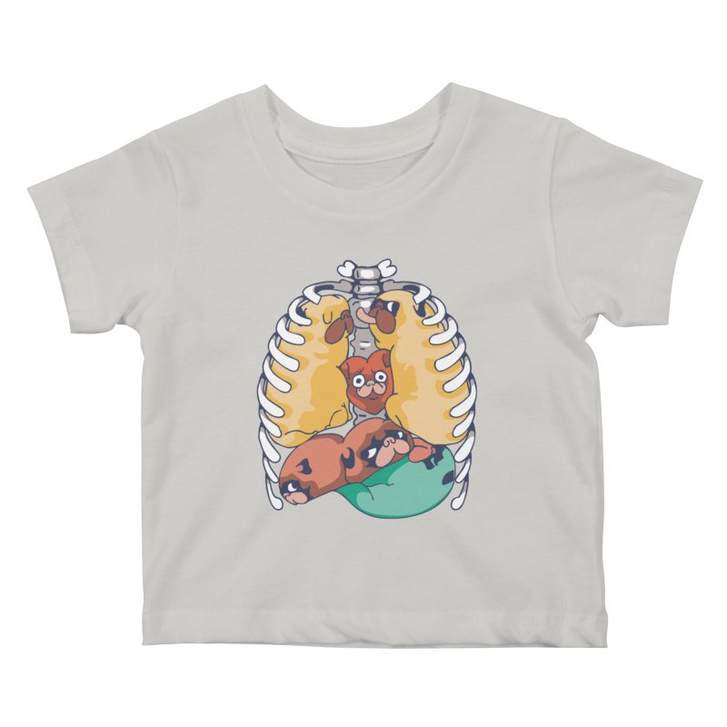 ANATOPUG Kids Baby T-Shirt by huebucket's Artist Shop