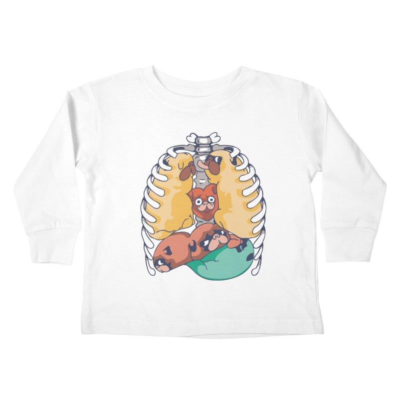 ANATOPUG Kids Toddler Longsleeve T-Shirt by huebucket's Artist Shop