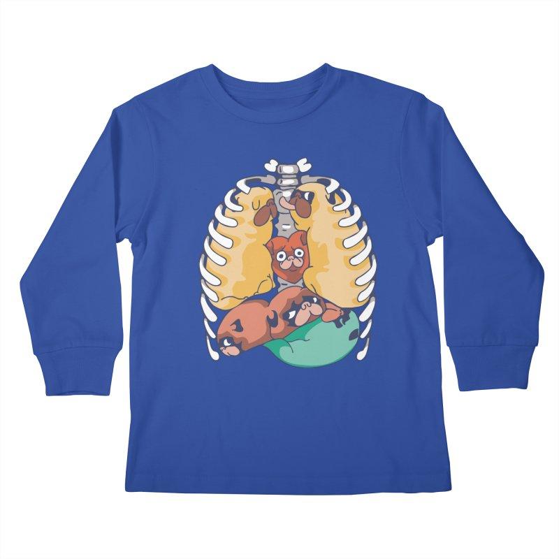 ANATOPUG Kids Longsleeve T-Shirt by huebucket's Artist Shop
