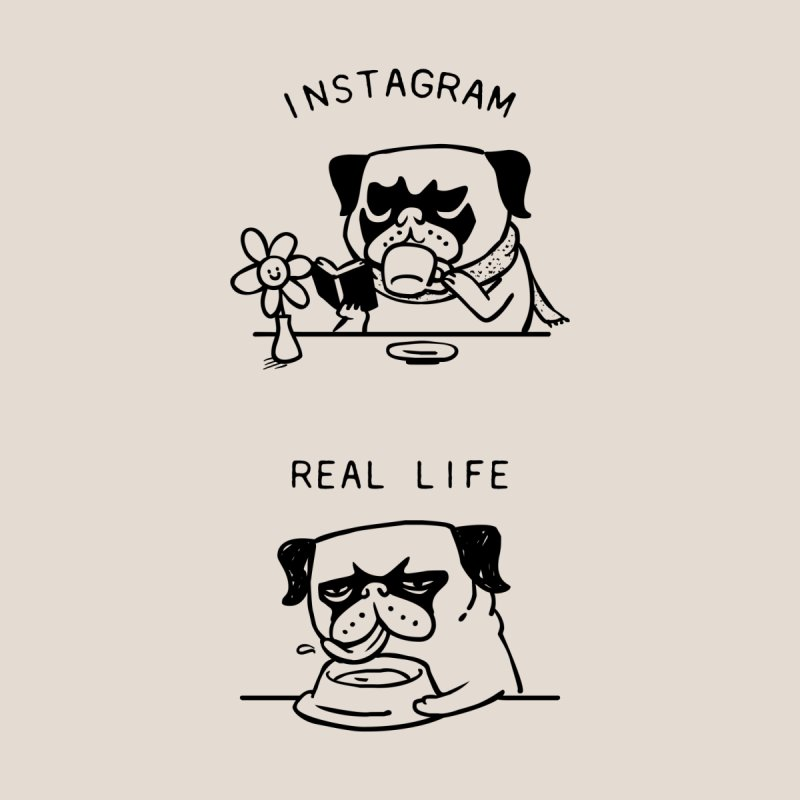 Instagram vs Real Life by huebucket's Artist Shop