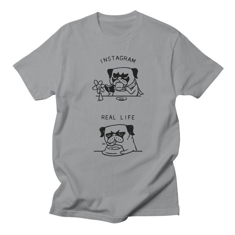 Instagram vs Real Life Men's T-Shirt by huebucket's Artist Shop