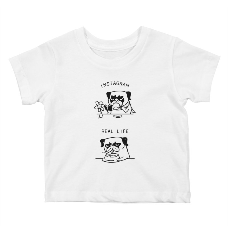 Instagram vs Real Life Kids Baby T-Shirt by huebucket's Artist Shop