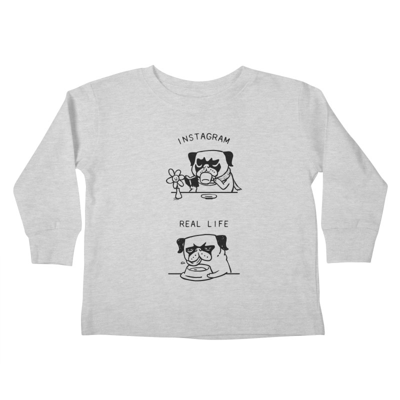 Instagram vs Real Life Kids Toddler Longsleeve T-Shirt by huebucket's Artist Shop