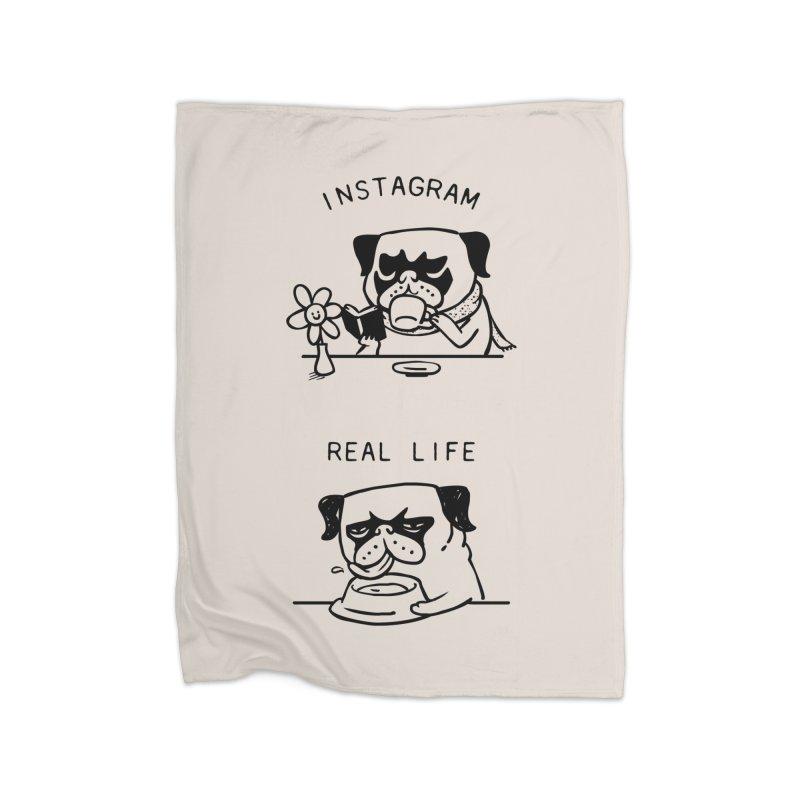 Instagram vs Real Life Home Blanket by huebucket's Artist Shop