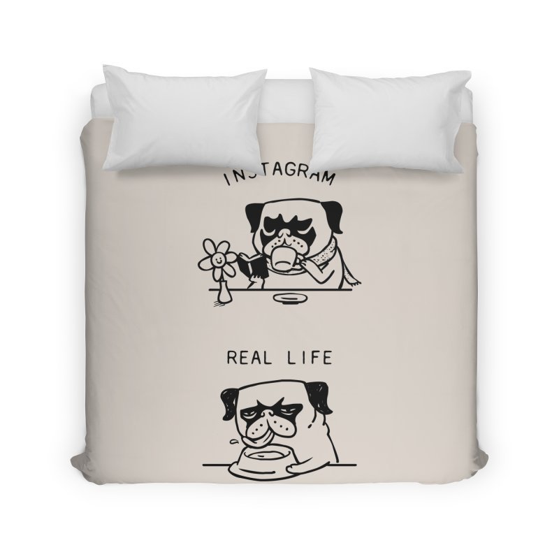 Instagram vs Real Life Home Duvet by huebucket's Artist Shop