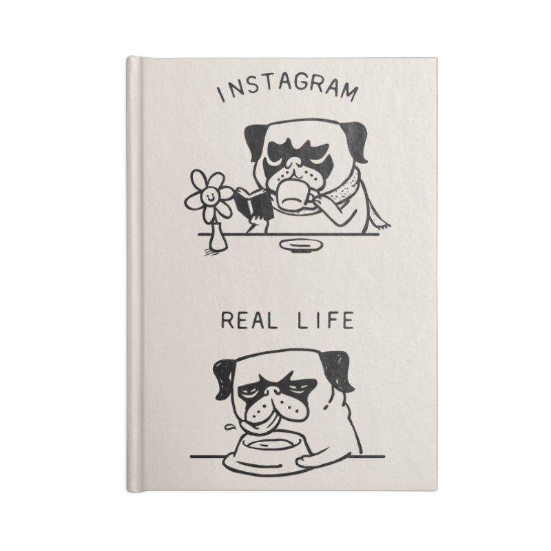 Instagram vs Real Life Accessories Notebook by huebucket's Artist Shop
