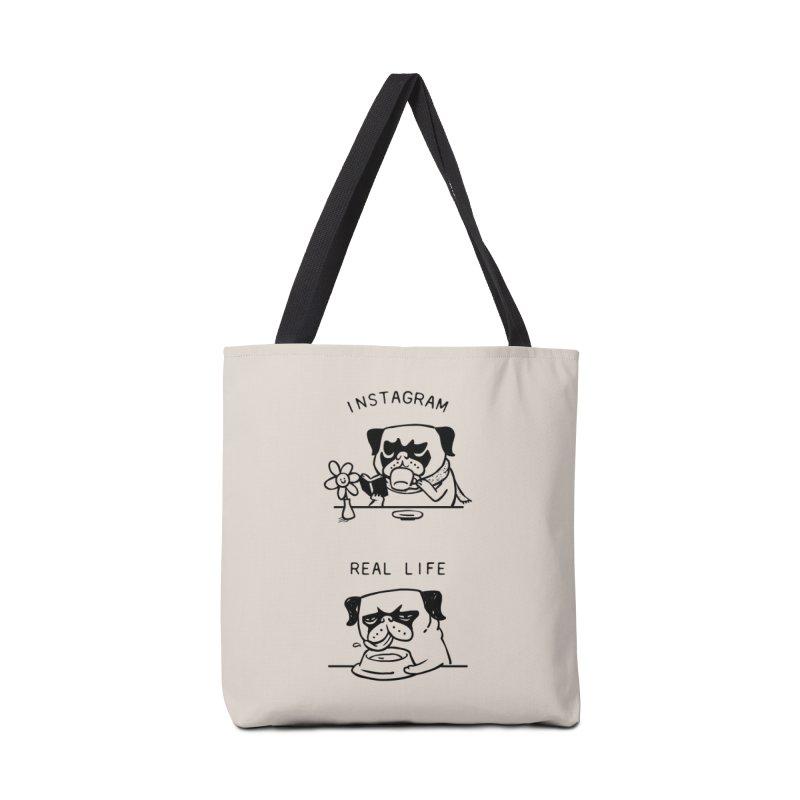 Instagram vs Real Life Accessories Bag by huebucket's Artist Shop