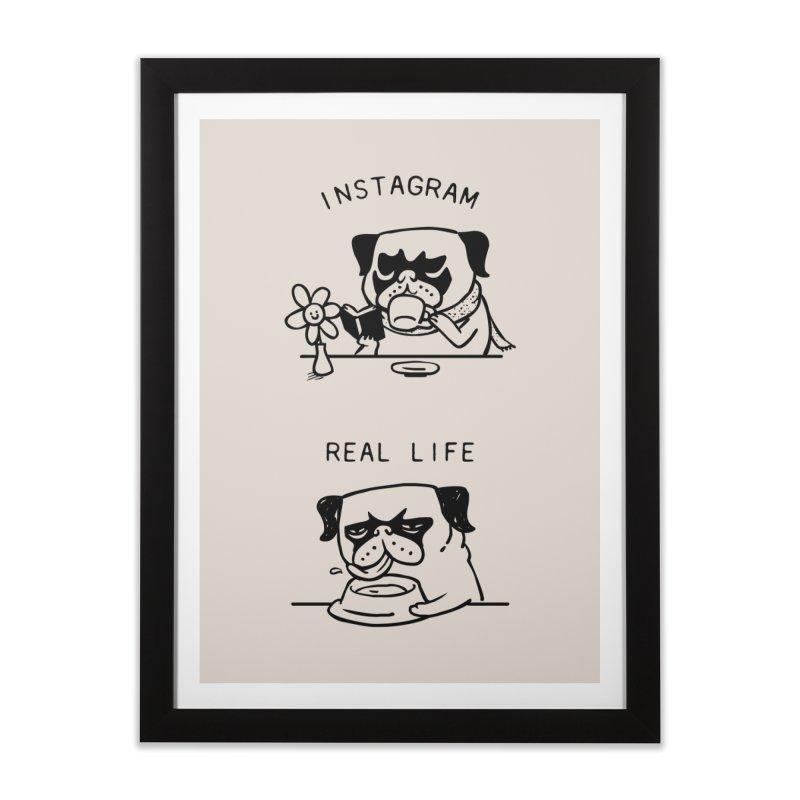 Instagram vs Real Life Home Framed Fine Art Print by huebucket's Artist Shop