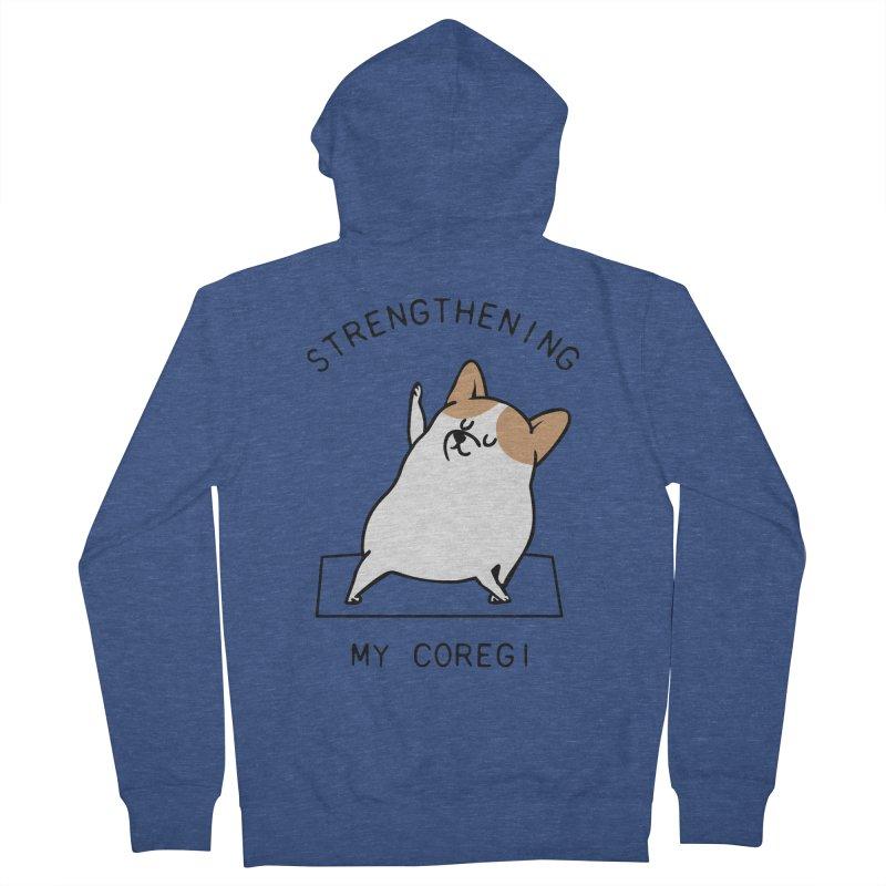 Strengthening My Coregi Men's Zip-Up Hoody by huebucket's Artist Shop