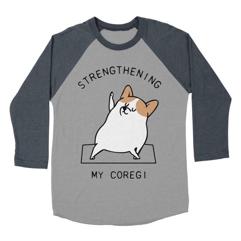Strengthening My Coregi Men's Baseball Triblend T-Shirt by huebucket's Artist Shop