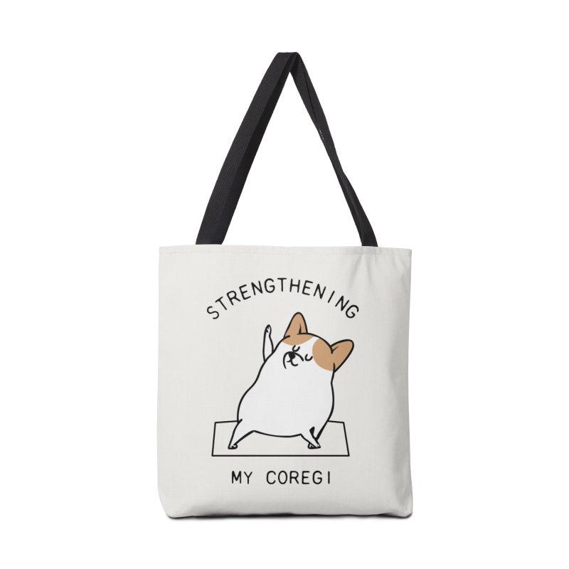 Strengthening My Coregi Accessories Bag by huebucket's Artist Shop