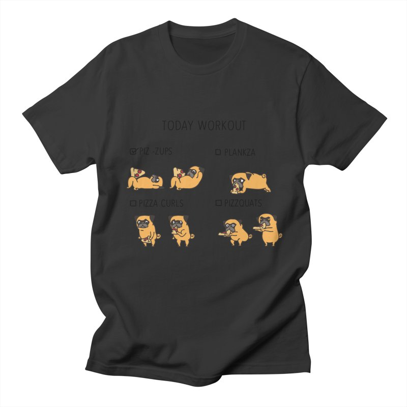 Today Workout with the pug Men's T-Shirt by huebucket's Artist Shop
