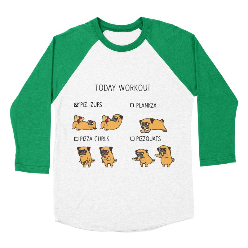 Today Workout with the pug Women's Baseball Triblend T-Shirt by huebucket's Artist Shop