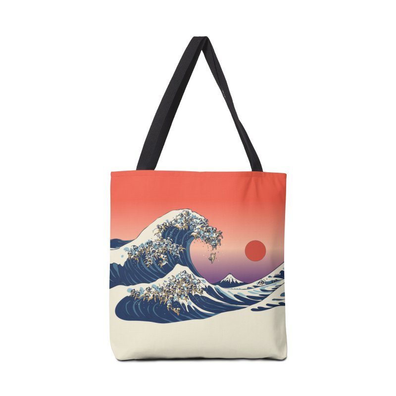 The Great Wave of Pugs Accessories Bag by huebucket's Artist Shop