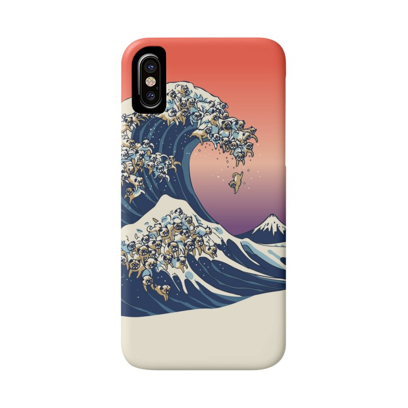 The Great Wave of Pugs Accessories Phone Case by huebucket's Artist Shop