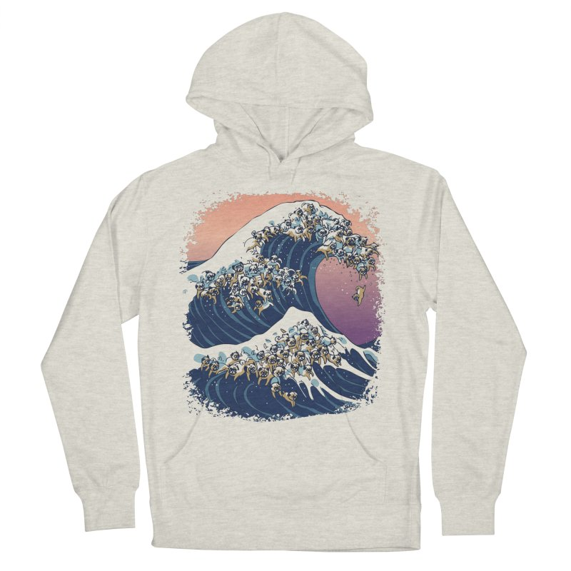 The Great Wave of Pugs Men's Pullover Hoody by huebucket's Artist Shop