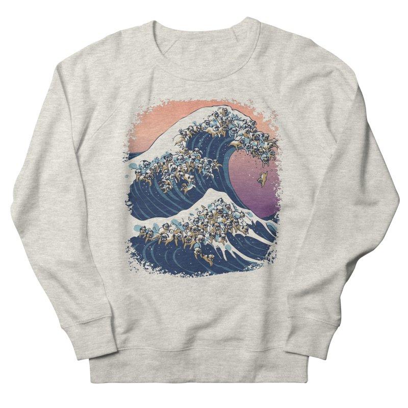 The Great Wave of Pugs Men's Sweatshirt by huebucket's Artist Shop