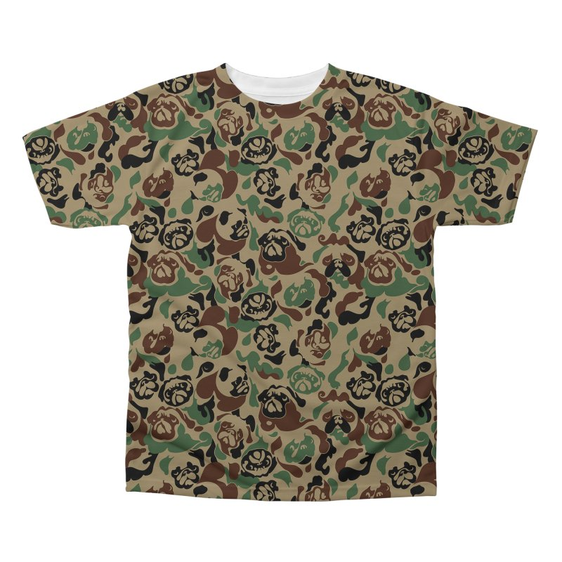 Pug Camouflage Men's Regular All Over Print by huebucket's Artist Shop