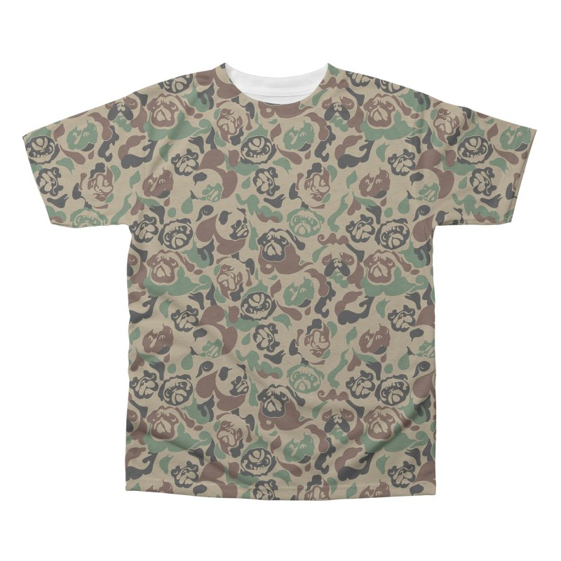Pug Camouflage Men's Triblend All Over Print by huebucket's Artist Shop