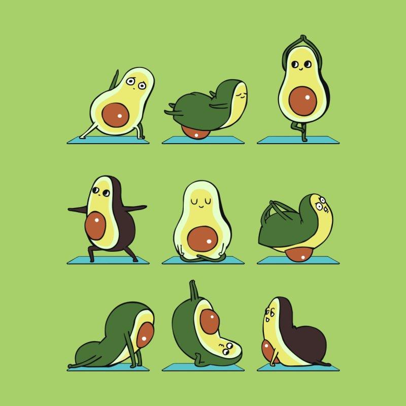 Avocado Yoga by huebucket's Artist Shop