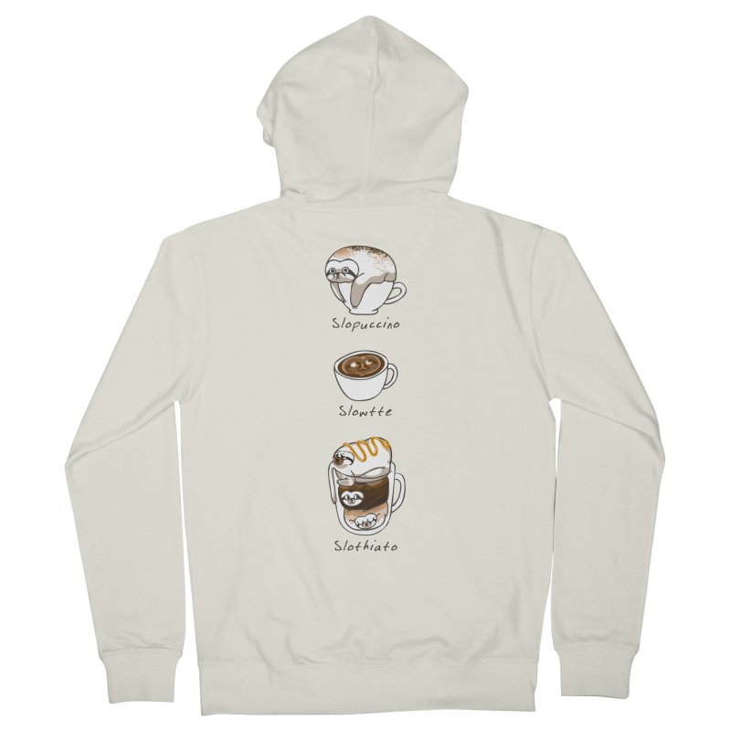 Slow life coffee Men's Zip-Up Hoody by huebucket's Artist Shop