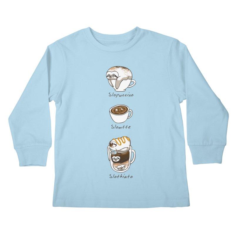 Slow life coffee Kids Longsleeve T-Shirt by huebucket's Artist Shop