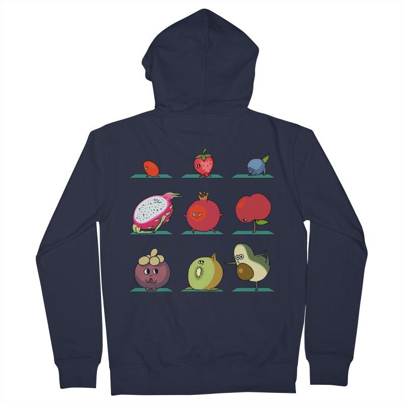 Super Fruits Yoga Men's Zip-Up Hoody by huebucket's Artist Shop