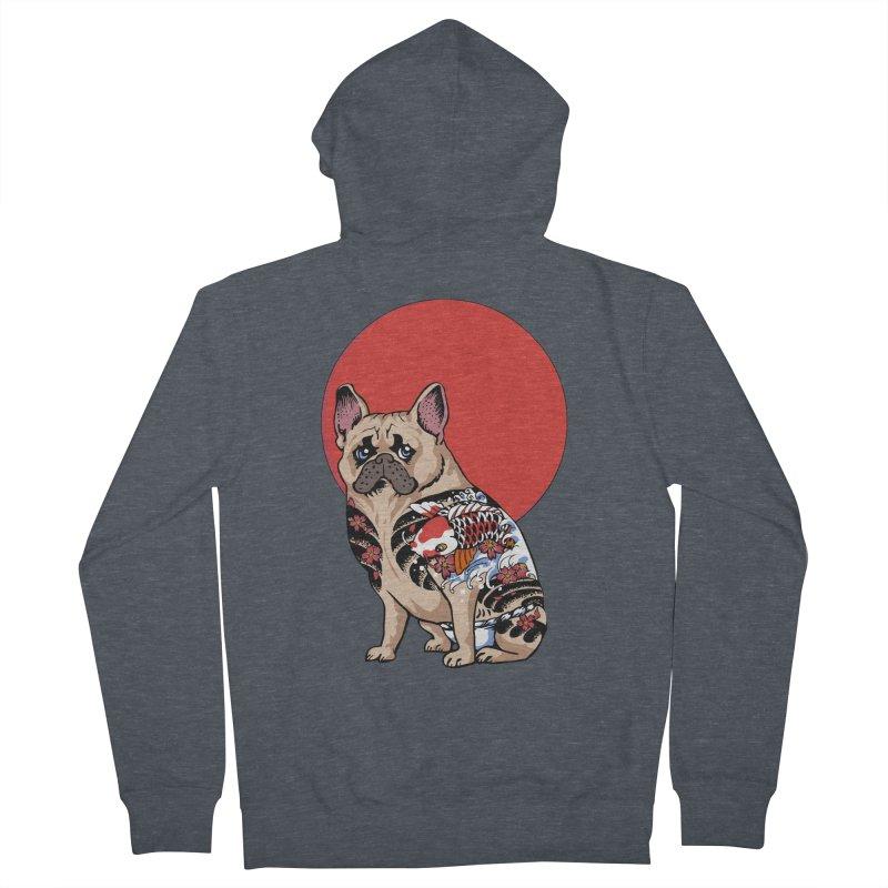French Bulldog Yakuza Men's Zip-Up Hoody by huebucket's Artist Shop