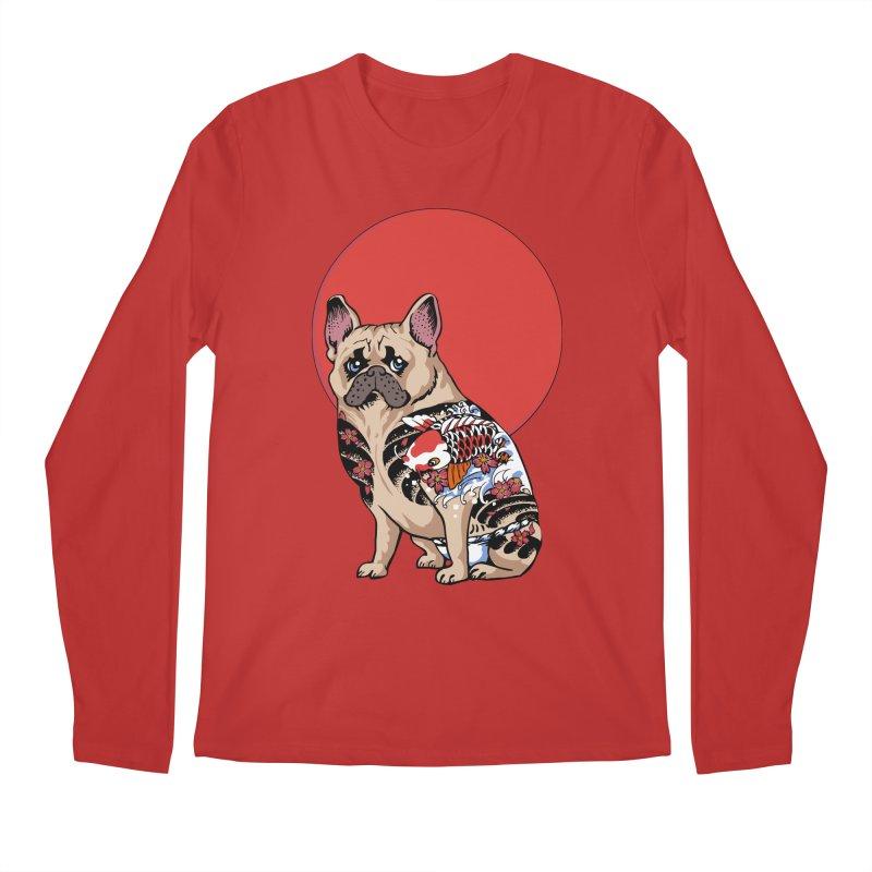 French Bulldog Yakuza Men's Longsleeve T-Shirt by huebucket's Artist Shop