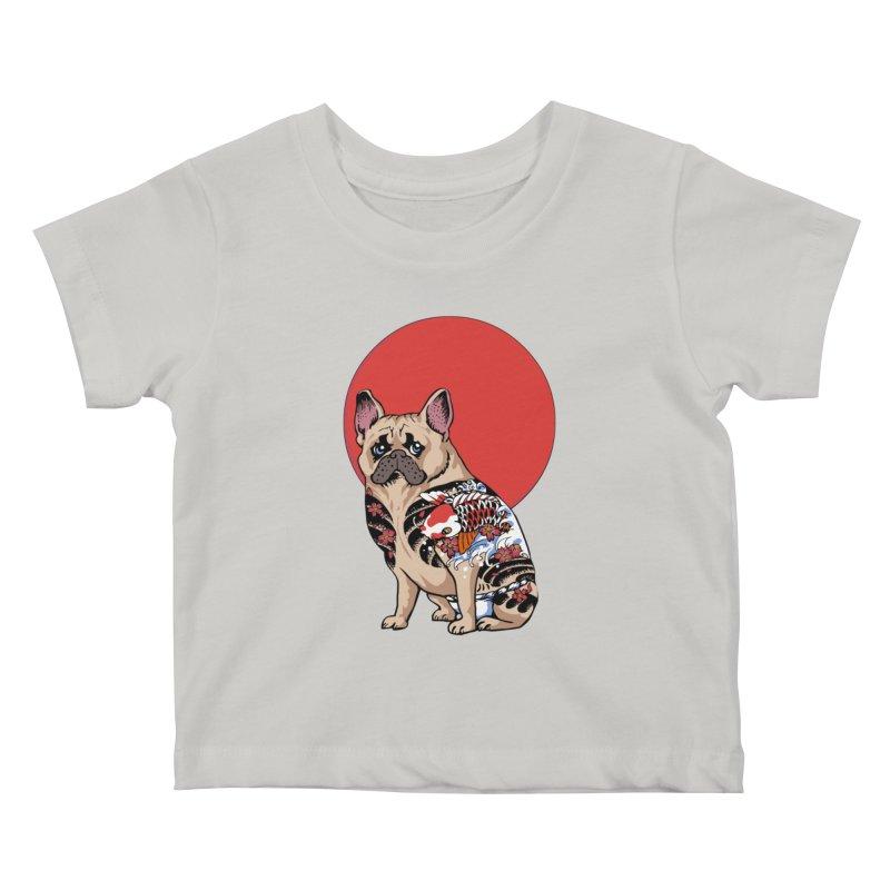 French Bulldog Yakuza Kids Baby T-Shirt by huebucket's Artist Shop