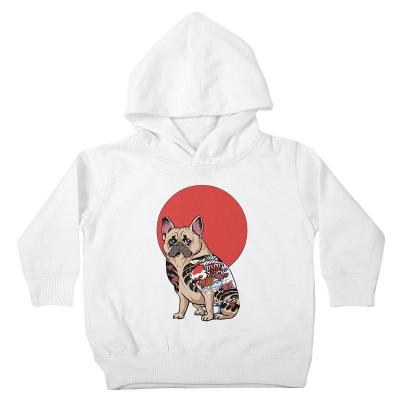 French Bulldog Yakuza Kids Toddler Pullover Hoody by huebucket's Artist Shop