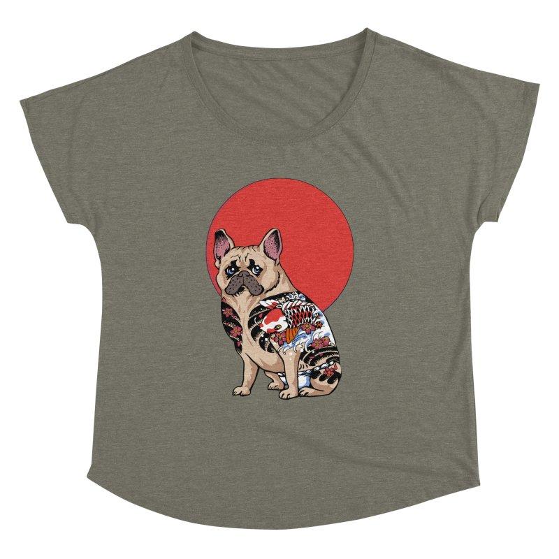 French Bulldog Yakuza Women's Dolman by huebucket's Artist Shop