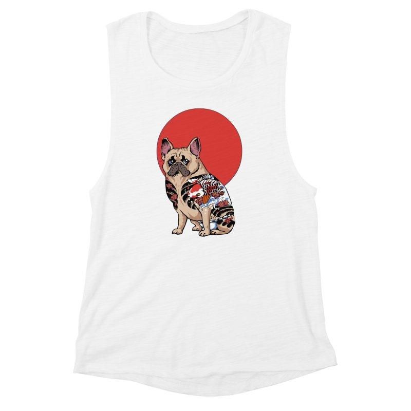 French Bulldog Yakuza Women's Muscle Tank by huebucket's Artist Shop