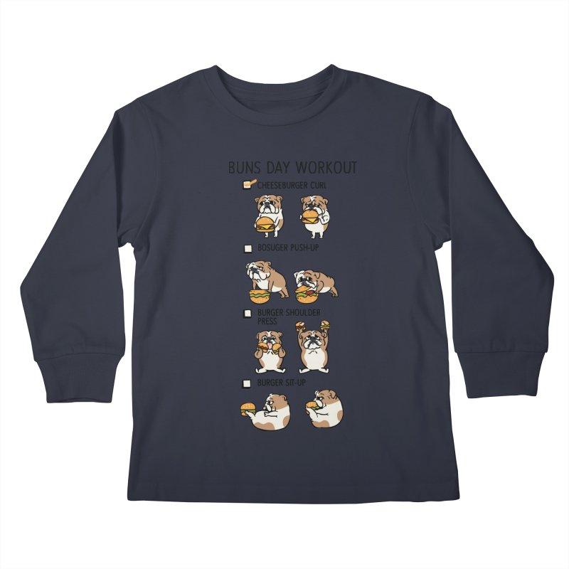 Buns Day Workout Kids Longsleeve T-Shirt by huebucket's Artist Shop