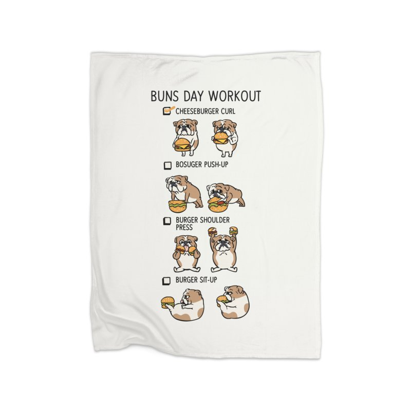 Buns Day Workout Home Blanket by huebucket's Artist Shop