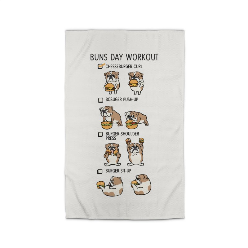 Buns Day Workout Home Rug by huebucket's Artist Shop