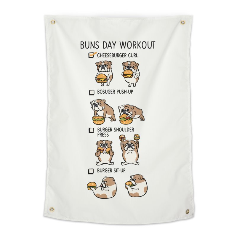 Buns Day Workout Home Tapestry by huebucket's Artist Shop