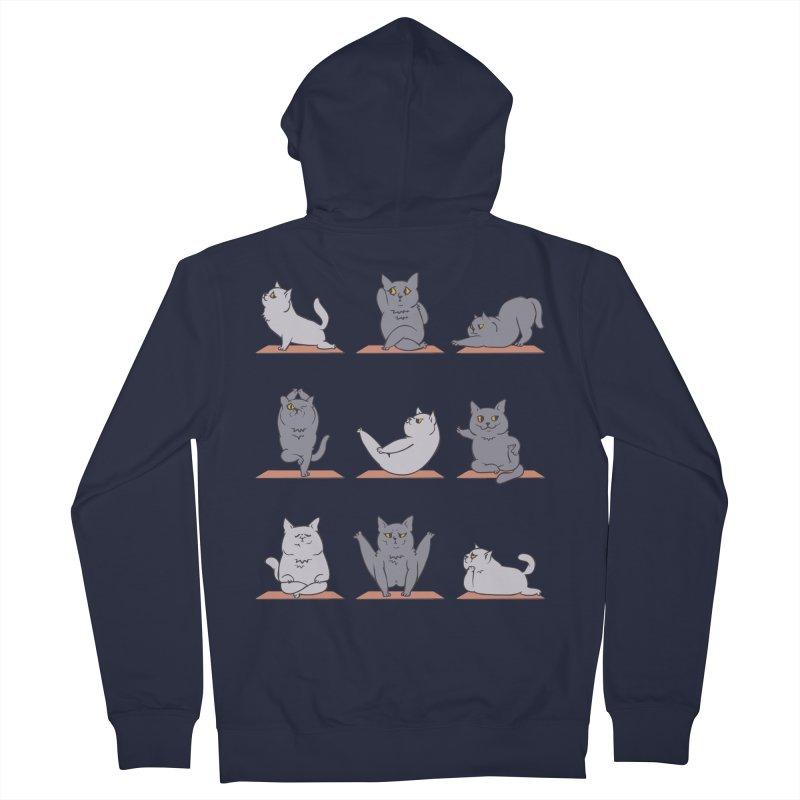 British Shorthair Cat Yoga Men's Zip-Up Hoody by huebucket's Artist Shop