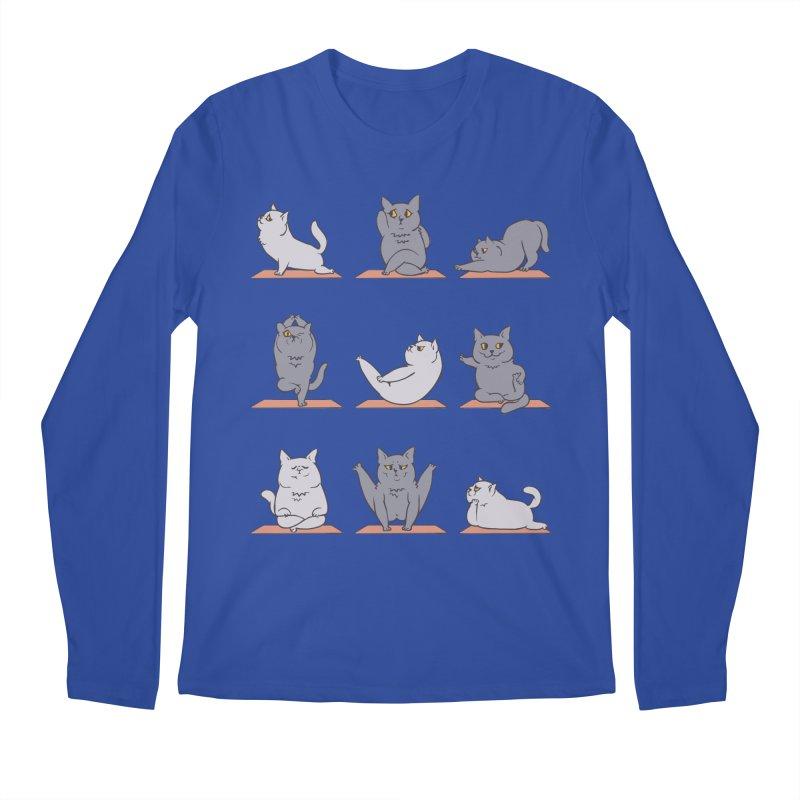 British Shorthair Cat Yoga Men's Longsleeve T-Shirt by huebucket's Artist Shop
