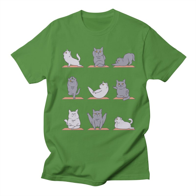 British Shorthair Cat Yoga Men's T-Shirt by huebucket's Artist Shop