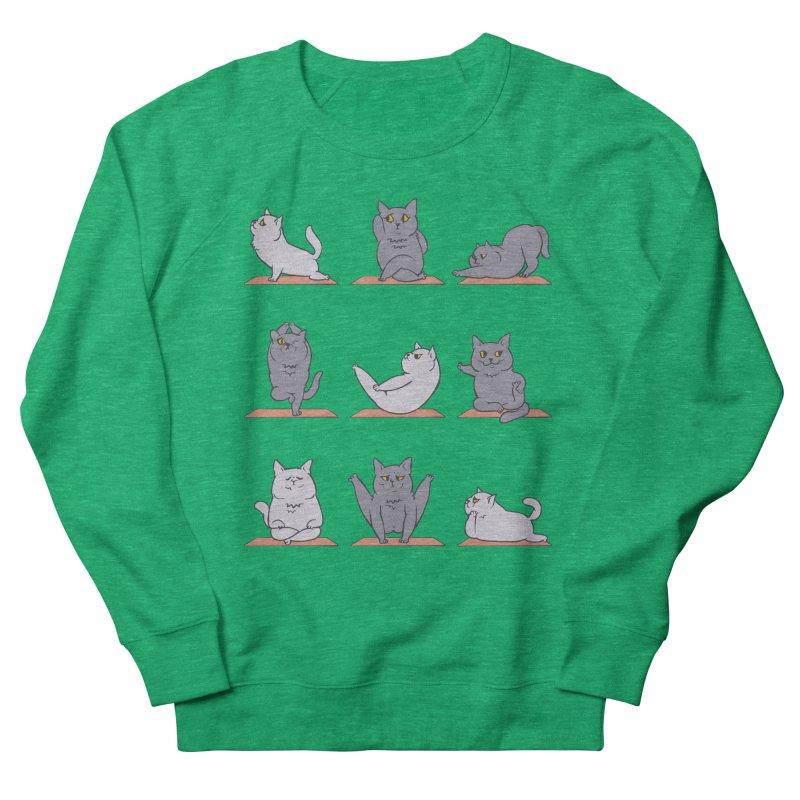 British Shorthair Cat Yoga Women's Sweatshirt by huebucket's Artist Shop